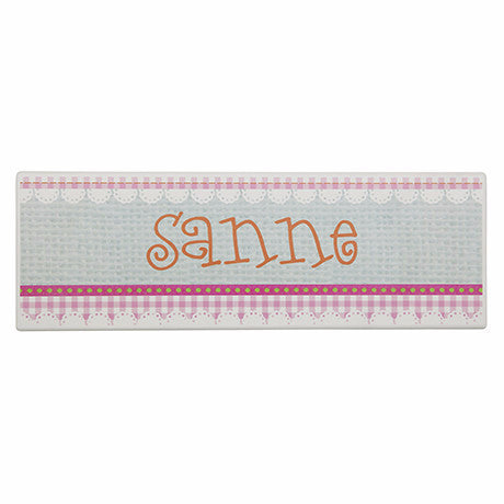 NAME PLATE - PINK APRON