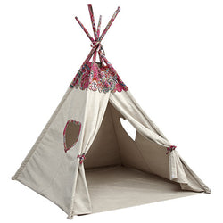 Huckleberry Kids Rooms - Day Dreamer Play Tent with the signature paisley print and heart shaped windows.