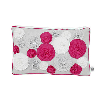 IBIZA BLOOM - LUMBAR CUSHION W/ 16 ROSES