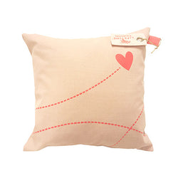 SUGAR PIE - BLUSH CANVAS SQUARE CUSHION