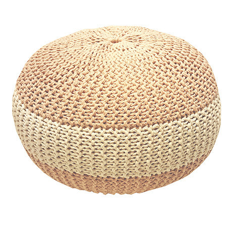 SUGAR PIE - CROCHET ROUND CUSHION POUF