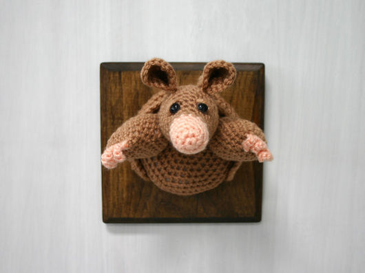 Crochet Taxidermy, Armadillo - Huckleberry Kids Rooms