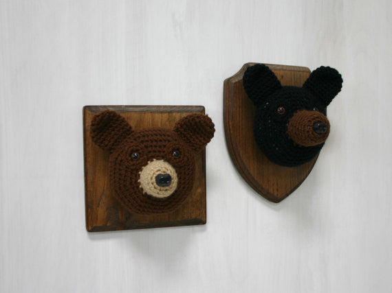 Crochet Taxidermy - Black Bear