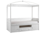 CANOPY CABIN BED WITH STORAGE CABINET