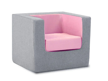 Cubino kids chair in grey and pink - Huckleberry Kids Rooms