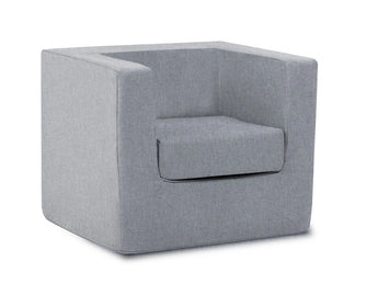 Cubino kids chair in nordic grey - Huckleberry Kids Rooms