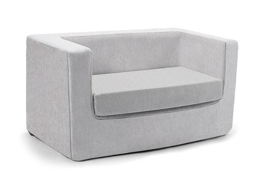 Cubino kids loveseat couch in ash grey - Huckleberry Kids Rooms