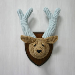 Crochet Taxidermy, Deer with Antlers - Huckleberry Kids Rooms