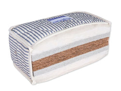 NaturalMat-Teen-Mattress-cross-section-with-organic-coconut-latex-and-wool-with-marine-blue-stripes-Huckleberry-Kids-Rooms