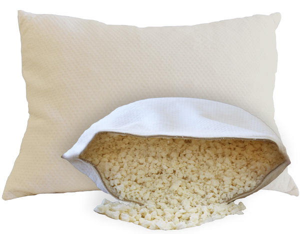 Organic Kids Pillow filled with crushed natural latex - Huckleberry Kids Rooms