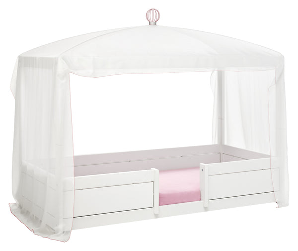 WHITE & PINK CANOPY - 4-IN-1 BED