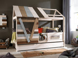 Treehouse Cabin Bed with Trundle Bed - Huckleberry Kids Rooms