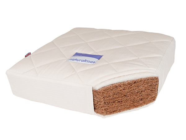 Organic-Coconut-kids-mattress-with-organic-wool-and-quilted-cotton-cover-made-by-NaturalMat-cross-section-photo-sold-by-Huckleberry-Kids-Rooms