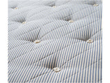 Closeup-of-teen-mattress-marine-blue-striped-tufted-fabric-made-by-NaturalMat-Huckleberry-Kids-Rooms