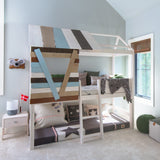 Treehouse-loft-bed-with-slanted-ladder-in-whitewash-solid-wood-non-toxic-Huckleberry-kids-rooms