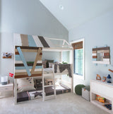 Treehouse-loft-bed-with-slanted-ladder-natural-color-tones-solid-wood-non-toxic-boys-room-Huckleberry-kids-rooms