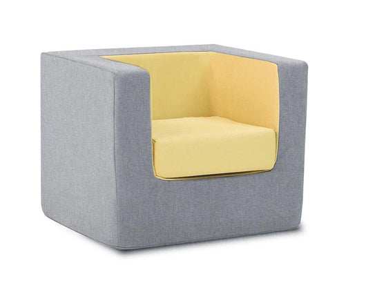 Cubino-kids-chair-in-grey-and-yellow-Huckleberry-kids-rooms