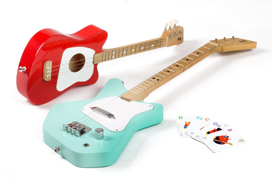 Loog Electric Guitar Mint Green Huckleberry Kids Rooms