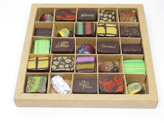 BOITE KRAFT DE 25 CHOCOLATS ASSORTIS