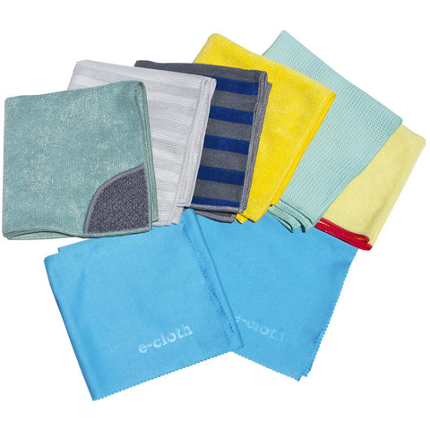 E-Cloth Microfiber Home Cleaning Cloth Set 8pc - Brilliant Vacuum
