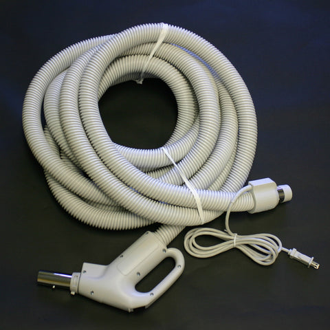 Central Vacuum Hose 30' 4 Wire With 6' Cord - Brilliant Vacuum