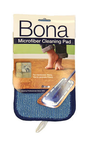 "Bona Microplus Microfiber Cleaning Pad 4"" x 15"" Blue - Brilliant Vacuum"