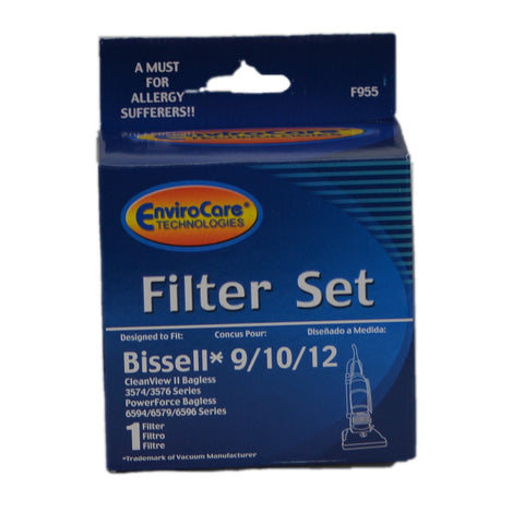 Bissell Filter Kit Dirt Cup Pleated & Foam 9 10 12 16 - Brilliant Vacuum