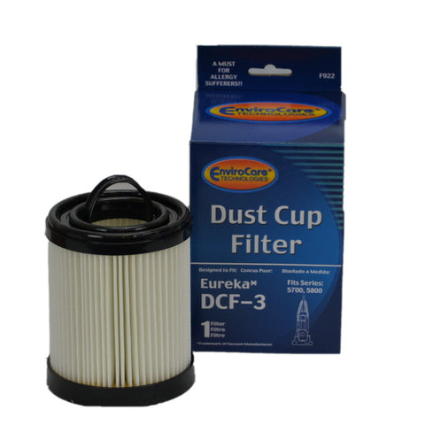 Eureka Filter Style DCF3 Dirt Cup Pleated Hepa