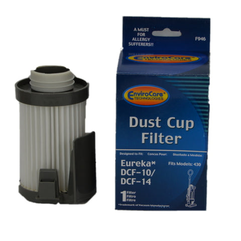 Eureka Replacement Filter :( Dirt Cup DCF10 DCF14 431 Pleated Broom Item # F946