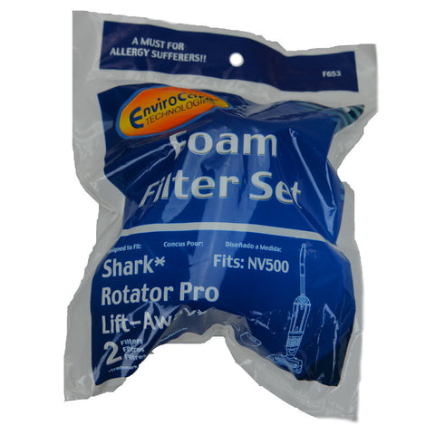 Shark Filter Kit NV500 Rotator Liftaway Foam 2Pk - Brilliant Vacuum