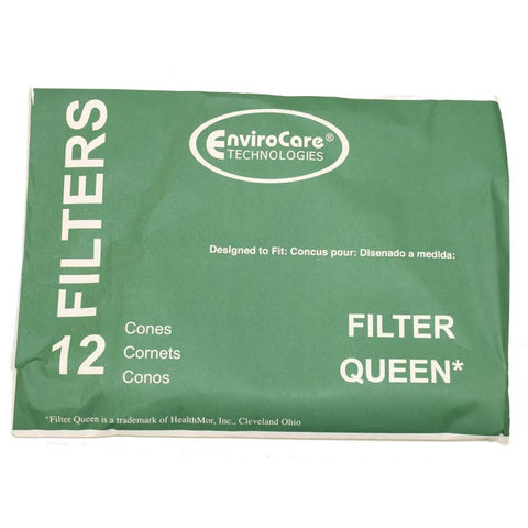 Filter Queen Cones 12pk With 2 Disc Filters - Brilliant Vacuum