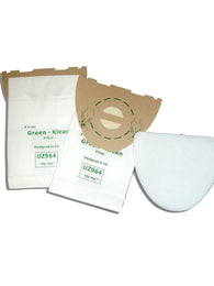Nilfisk-Advance Replacement Vacuum Bags 140655405, 1406554010, 1406554020 GK-UZ964 Green Klean®
