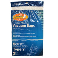 Hoover Paper Bag Type Y Micro 3pk - Brilliant Vacuum