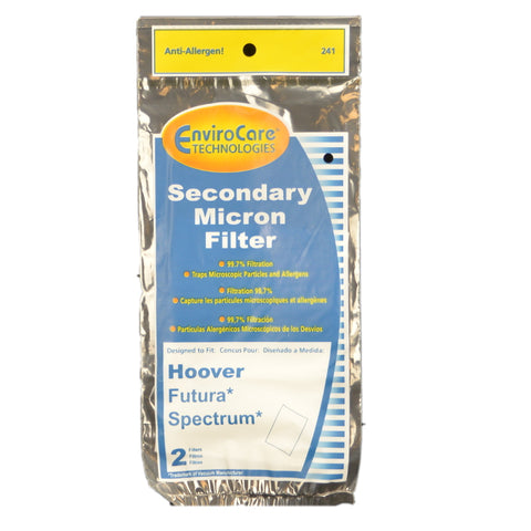 Hoover Replacement Filter :( Secondary Micron Spectrum Futura 2Pk Item # 241