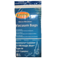 Kenmore Paper Bag Style M 51195 Magic Blue Riccar RC1100 8Pk - Brilliant Vacuum