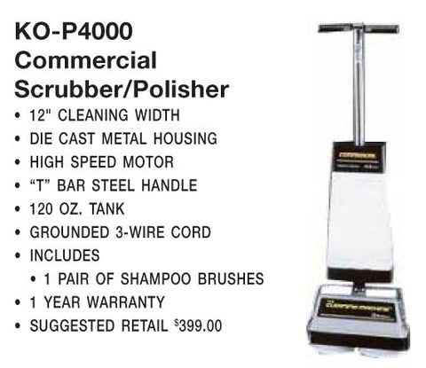 Koblenz Shampooer Polisher 120oz Tank 1-Spd T-Handle Comm Item # 00-2074-3