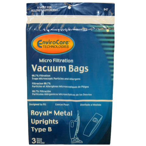 Royal Paper Bag Type B Metal Upright Micro 3pk - Brilliant Vacuum