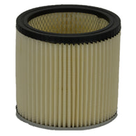 "Shop Vac Filter :( Round Pleated 6"" Tall 7"" Diam 1 Closed E Item # AS6VAC"