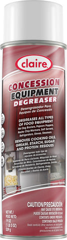 Claire Concession Equipment Degreaser 20oz Item # 026 Case of 12 - Brilliant Vacuum