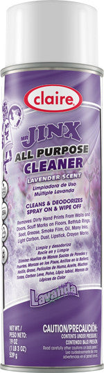 Claire Mr. Jinx All Purpose Cleaner - LAVANDA - Lavender Scented 20oz Item # 035 Case of 12 - Brilliant Vacuum
