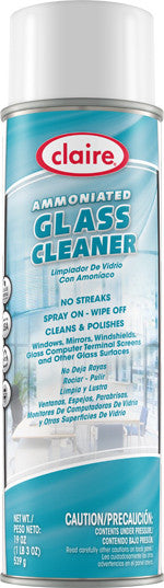 Claire Ammoniated Glass Cleaner 20oz Item # 043 Case of 12 - Brilliant Vacuum