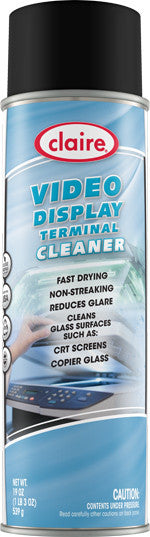 Claire Video Display Terminal Cleaner 20oz Item # 046 Case of 12 - Brilliant Vacuum