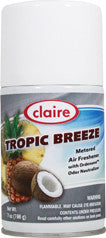 Claire Metered Aerosol Tropic Breeze 7oz Item # 105 Case of 12 - Brilliant Vacuum