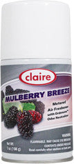 Claire Metered Aerosol Mulberry Breeze 7oz Item # 106 Case of 12 - Brilliant Vacuum