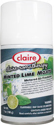 Claire Metered Aerosol Minted Lime Mojito 7oz Item # 150 Case of 12 - Brilliant Vacuum