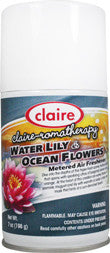 Claire Metered Aerosol Water Lily & Ocean Flowers 7oz Item # 155 Case of 12 - Brilliant Vacuum