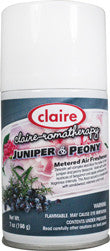 Claire Metered Aerosol Juniper & Peony 7oz Item # 157 Case of 12 - Brilliant Vacuum