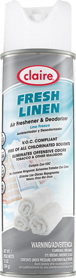 Claire Air Freshener & Deodorizer Fresh Linen 20oz Item # 163 Case of 12 - Brilliant Vacuum