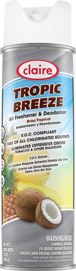 Claire Air Freshener & Deodorizer Tropic Breeze 20oz Item # 165 Case of 12 - Brilliant Vacuum