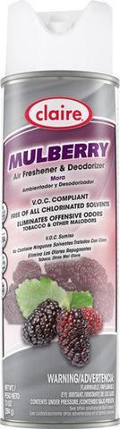 Claire Air Freshener & Deodorizer Mulberry 20oz Item # 166 - Brilliant Vacuum